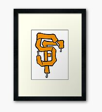 SF Giant Laces Framed Print