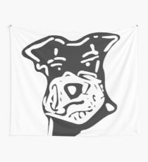 One Bad A** Miniature Schnauzer  Wall Tapestry