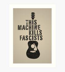 Lámina artística Esta máquina mata a los fascistas