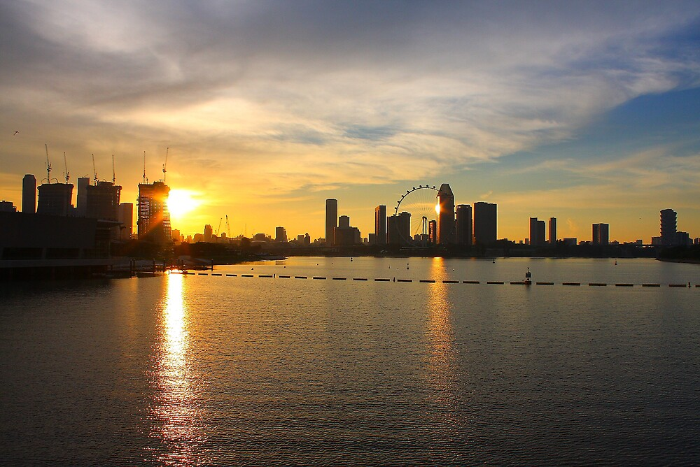 Singapore Sunset by canon40d