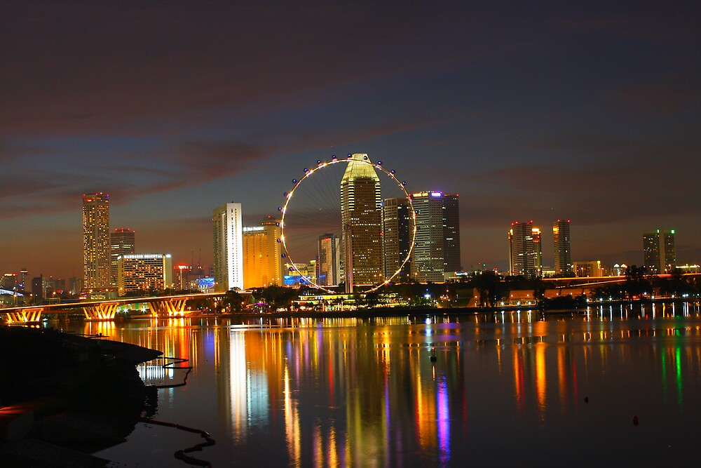 Night shot of Singapore by canon40d