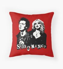 Sid and Nancy.  Sid Vicious, Nancy Spungen, Punk Throw Pillow