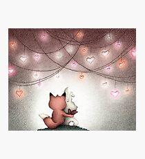 Valentine Buddies Photographic Print