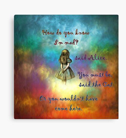 Wonderland Time - Alice In Wonderland Quote Lienzo