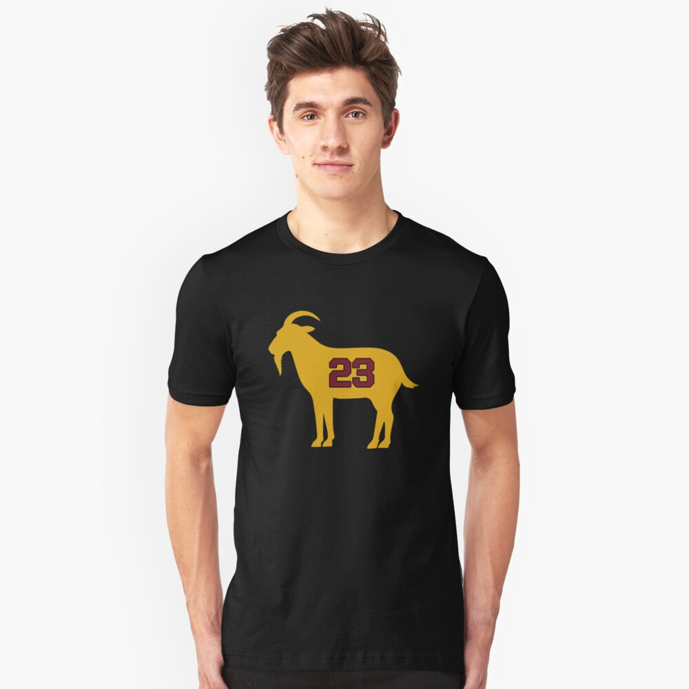 online retailer aac50 a1963 LeBron James Shirt | LeBron Goat | King James Crown Tshirt | Cleveland The  Goat 23 | LBJ Shirt LeBron GOAT | Slim Fit T-Shirt