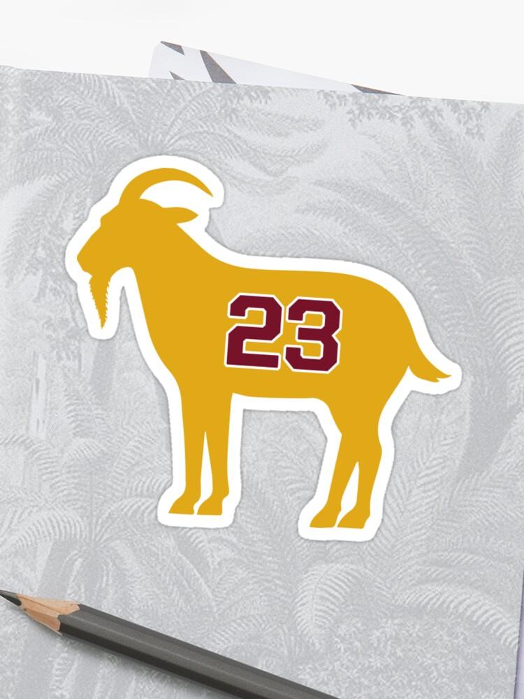 the latest d3867 1ccf7 LeBron James Shirt | LeBron Goat | King James Crown Tshirt | Cleveland The  Goat 23 | LBJ Shirt LeBron GOAT | Sticker