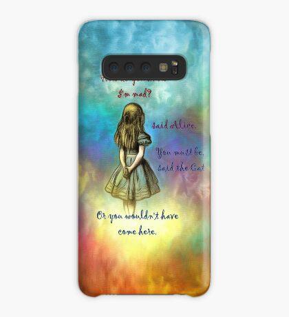 Wonderland Time - Alice In Wonderland Quote Funda/vinilo para Samsung Galaxy