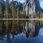 Yosemite Pond Reflection by photosbyflood