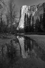 Yosemite El Capitan Reflection along the Merced by photosbyflood