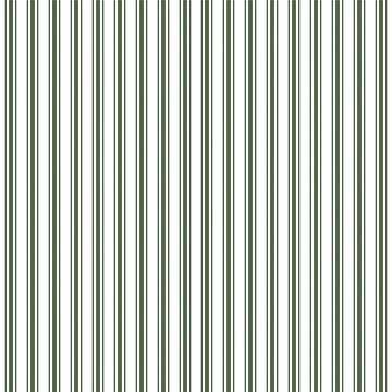 Large Dark Forest Green and White Mattress Ticking Stripes by podartist