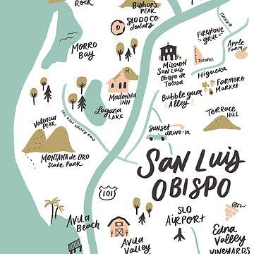 San Luis Obispo Map by ehoehenr