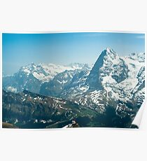 Wetterhorn and Eiger Poster