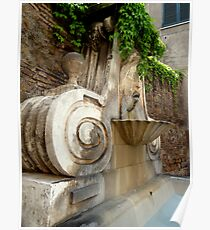 One of Rome´s Fountains Poster