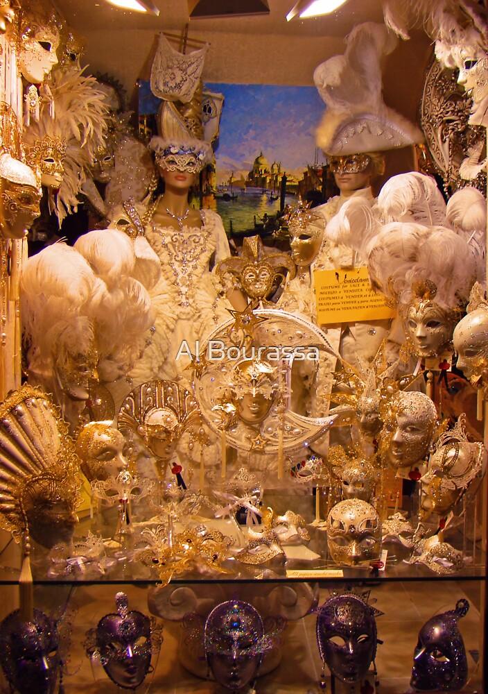 Masks Of Venice II by Al Bourassa