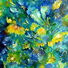 Floral Impressions in Blue by Cathy Gilday