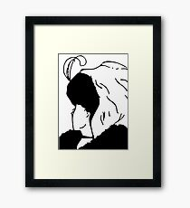 Beautiful Girl & Old Woman Framed Print