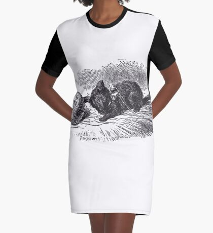 The Black Kitten Graphic T-Shirt Dress