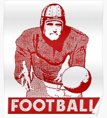 1930 Football Player Poster