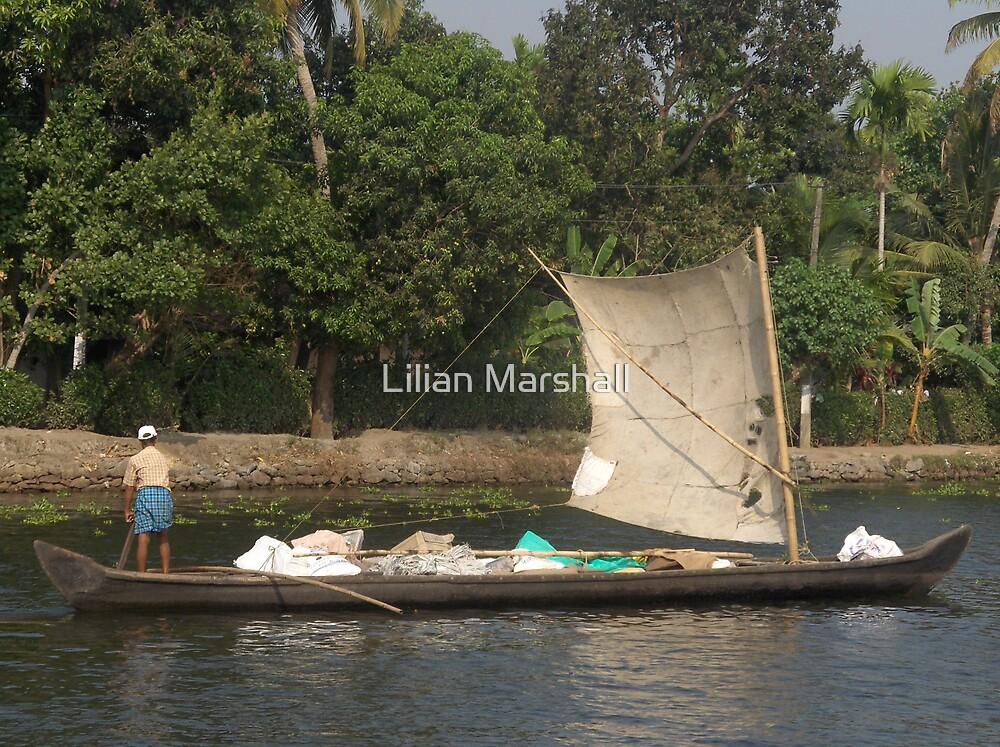 BACKWATERS OF KERALA   by Lilian Marshall