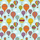 Colorful Hot Air Balloons by Pamela Maxwell
