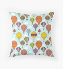 Colorful Hot Air Balloons Throw Pillow