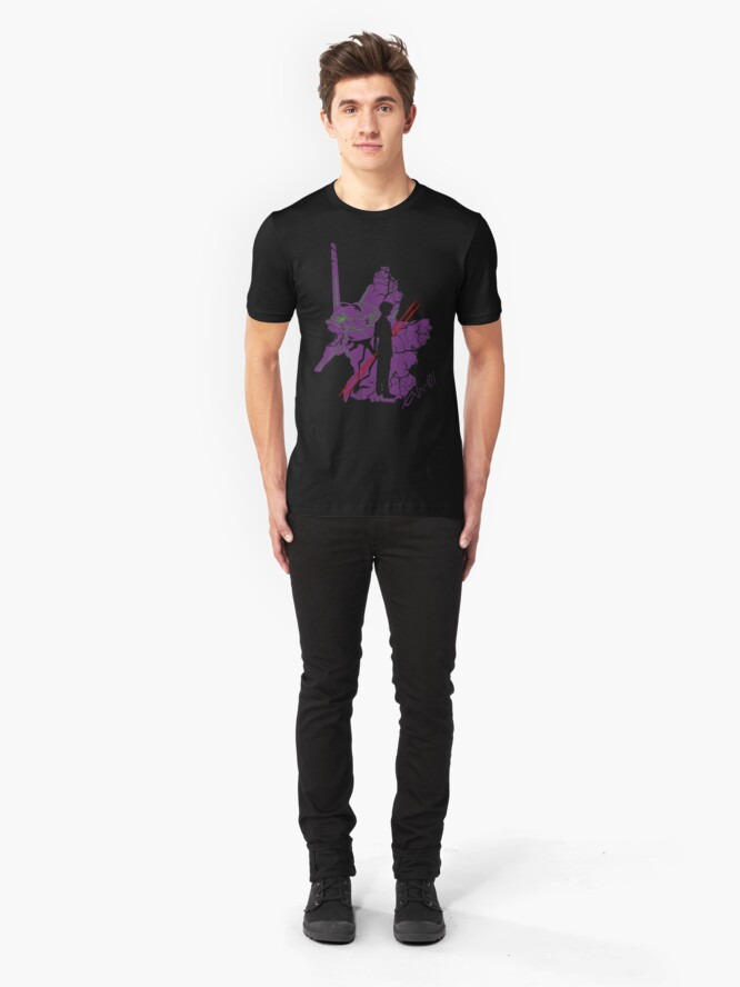Alternate view of Evangelion Unit-01 Slim Fit T-Shirt