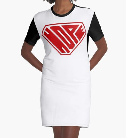 Hope SuperEmpowered (Red) Graphic T-Shirt Dress