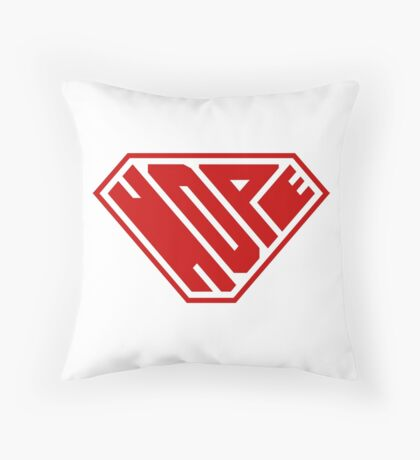Hope SuperEmpowered (Red) Throw Pillow