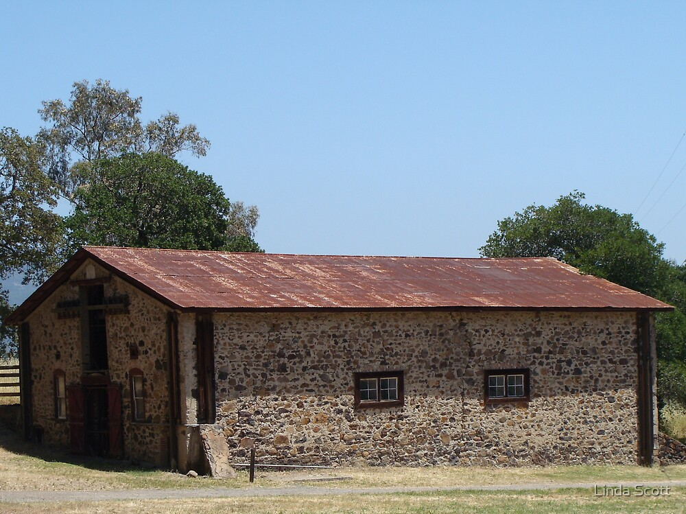 Rusty Roof on Old Horse Barn by Linda Scott