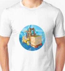 Forklift Truck Materials Box Circle Low Polygon T-Shirt