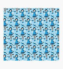 Alice in Tealand pattern Photographic Print