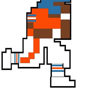 Tecmo Bowl Denver 8-bit DEN by jackandcharlie
