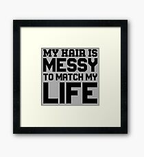 Messy Hair Quotes Wall Art Redbubble