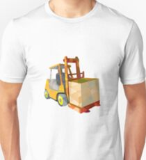 Forklift Truck Materials Handling Box Low Polygon T-Shirt