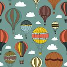 Vintage Hot Air Balloons by Pamela Maxwell