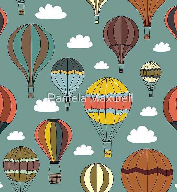 Vintage Hot Air Balloons by Pamela Maxwell