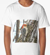 Red Bellied Wood Pecker 3 Long T-Shirt