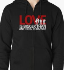 U2 Love Is Bigger Than Anything In Its Way Zipped Hoodie