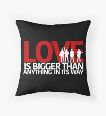 U2 Love Is Bigger Than Anything In Its Way Throw Pillow