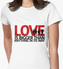 U2 Love Is Bigger Than Anything In Its Way Women's Fitted T-Shirt
