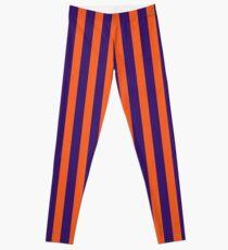 Lila und Orange vertikale Streifen Leggings