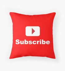 youtube channel subscribe Throw Pillow