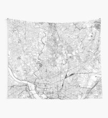 Washington D. C. White Map Wandbehang