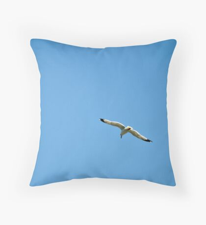 Bird In Blue Sky Throw Pillow