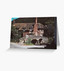 A village in Somerset Greeting Card