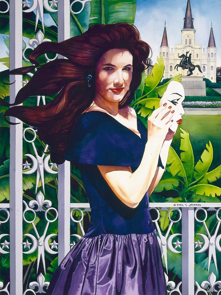 """Haute Coiffure"" Watercolor by Paul Jackson"