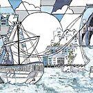 Bristol Matthew blue by Miles Design Art