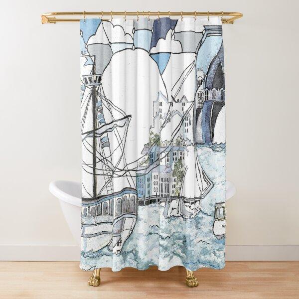 Bristol Matthew blue Shower Curtain