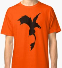 Toothless Silhouette - Plain Classic T-Shirt