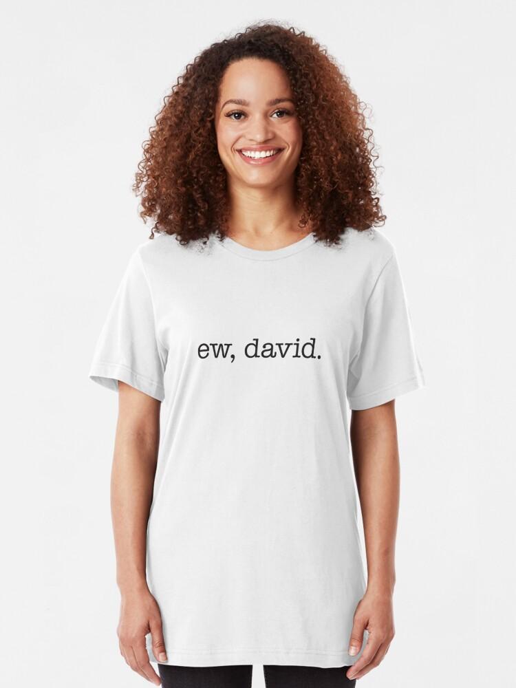 Alternative Ansicht von Ew, David. Slim Fit T-Shirt